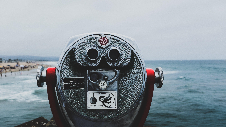 Binoculars on the Beach