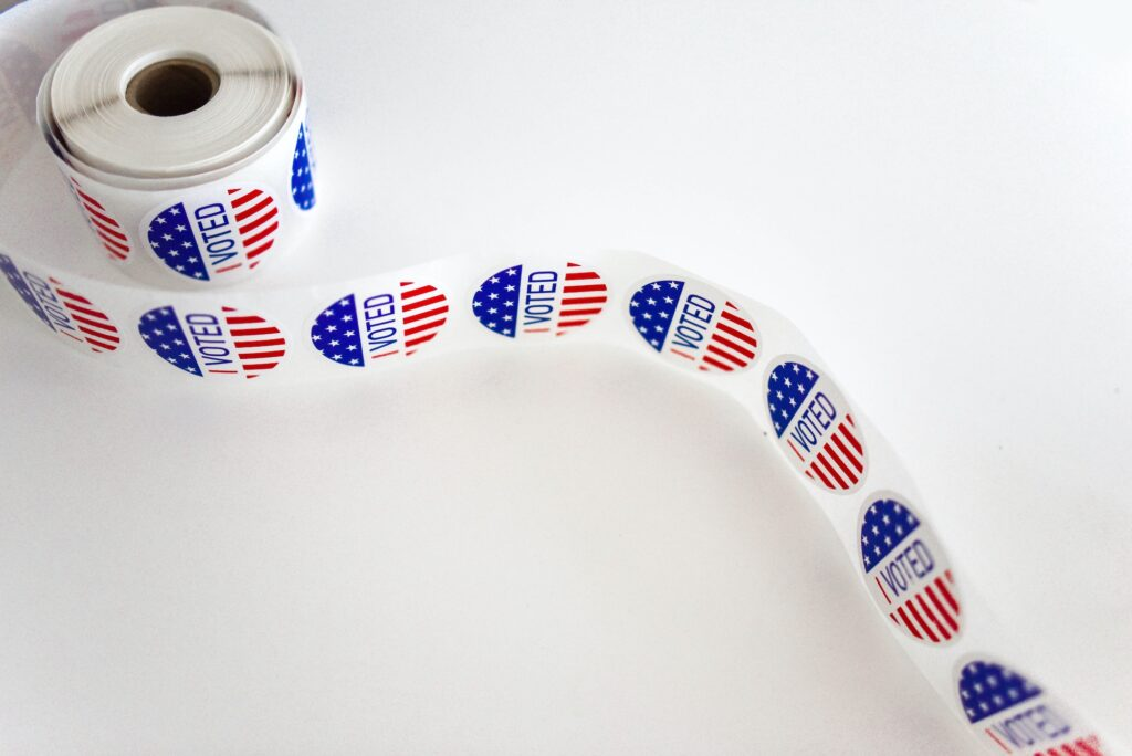 Voting Stickers Small